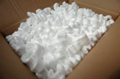 Cellular polystyrene crumb (beads and chips)