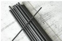 Thick graphite coated electrode