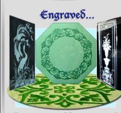Engraved decor